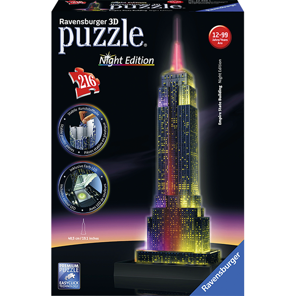 3D Puzzle Empire State Building b.Nacht