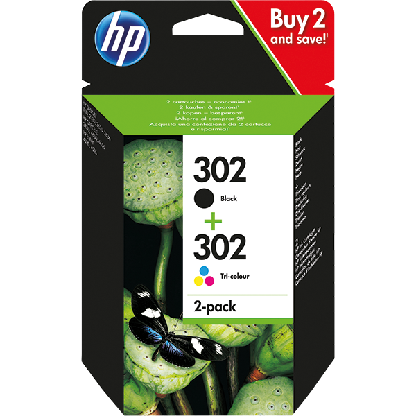 Tinte HP 302 Combo-Pack X4D37AE