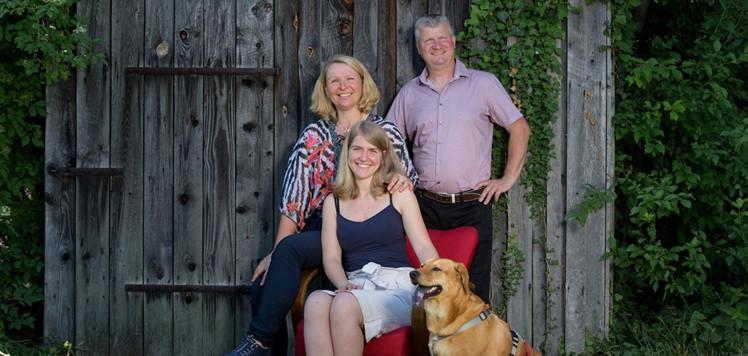 Die Familie Hoch vom Winzerhof Hoch.