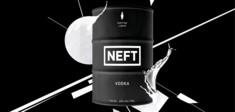 Der NEFT Premium-Vodka.