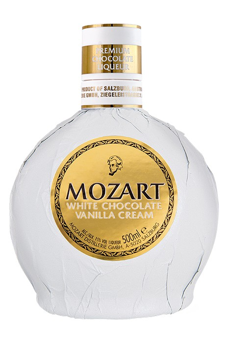 Der Mozart White Chocolate Vanilla Cream Likör.
