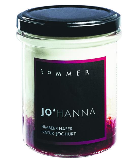 Das Sommer Natur-Joghurt Johanna mit Himbeeren und Hafer.