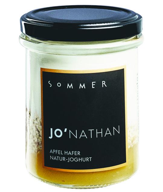 Das Sommer Natur-Joghurt Jonathan mit Apfel und Hafer.