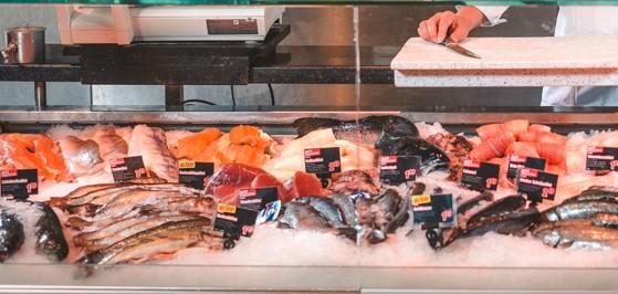Die Vielfalt an Fischen an der maxi.fischtheke.