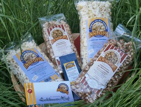 Verschiedene INNPOPIS Popcornsorten.