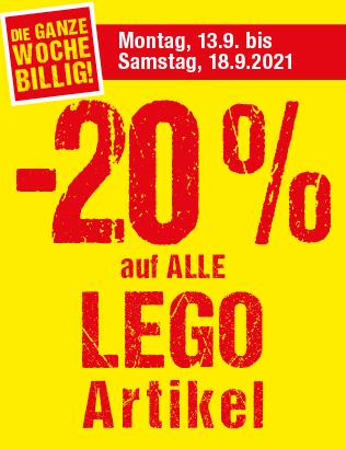 20 % auf alle Lego Artikel