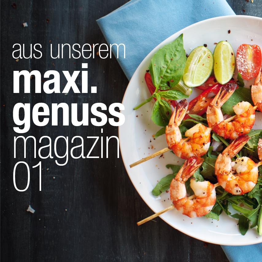 Die Titelseite des Genussmagazins 1 aus 2020.